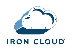 a metallic cloud with the Iron Mountain logo on it