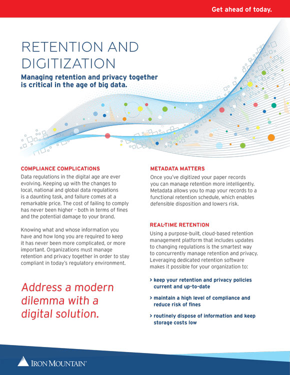 Retention and Digitization