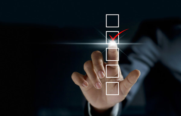 the vendor evaluation checklist your enterprise needs - businessman checking mark