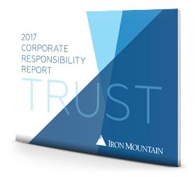 2017 Corporate Responsibility Report | Iron Mountain