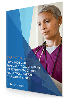 How a mid-sized pharmaceutical company improved productivity and reduced overall fulfillment costs case study - pdf thumb