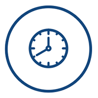 secure tape storage - clock icon
