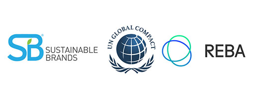 Sustainable Brands, UN Global Compact, and REBA logos
