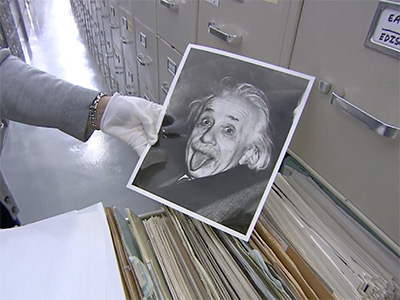 Famous photo of Albert Einstein sticking out his tongue