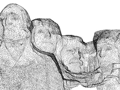 Mount Rushmore 3D mapped