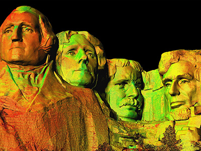 3D image of Mount Rushmore