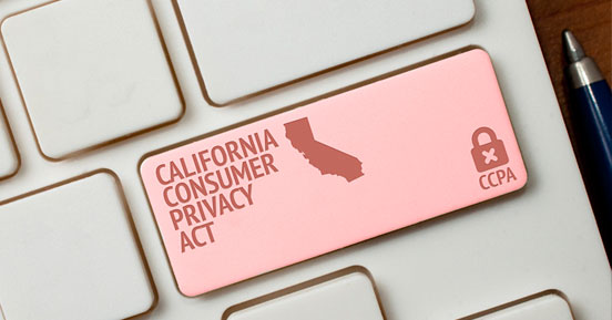 Prioritizing CCPA Privacy - CCPA written on a keyboard