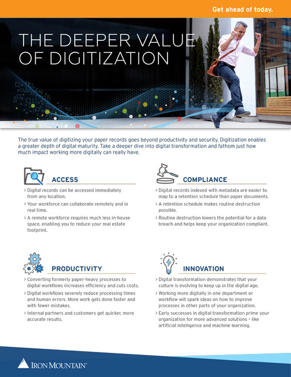The Deeper value of Digitization