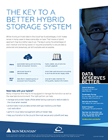 The Key to a Better Hybrid Storage System | Iron Mountain