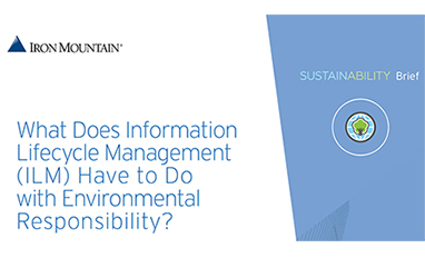 What Does Information Lifecycle Management (ILM) Have to Do with Environmental Responsibility?