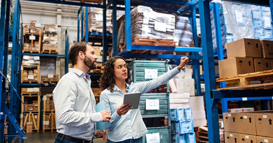 Parker Hannifin – Transportation and Logistics- People in a warehouse