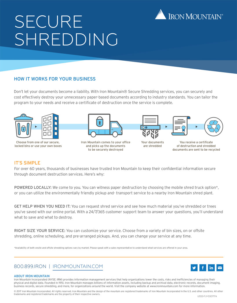 Data & Records Management | Shredding | Iron Mountain