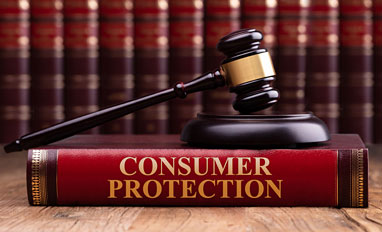 California Consumer Privacy Act (CCPA) Gives Consumers the Right to Just Say 'No'- Wooden Gavel And Soundboard On Consumer Protection Law Book
