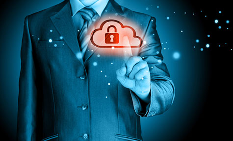 Information privacy: Is it as important to your vendors as it is to you? - A concept image of a man touching a cloud