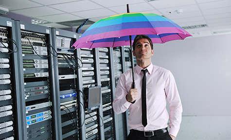 Preventing Unexpected Disasters: Corporate IT and Data Infrastructure - A man in the server room