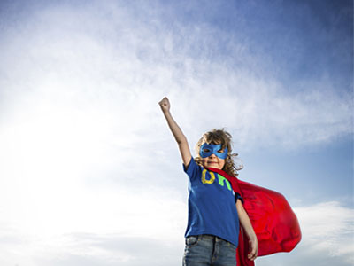 Protection of Sensitive Data and Information Governance- A kid in a superhero costume