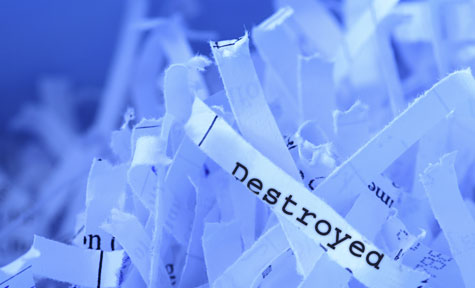 Retention and Destruction Schedules: Why You Need Both - Shredded paper
