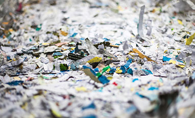 Secure Destruction - Shredded paper