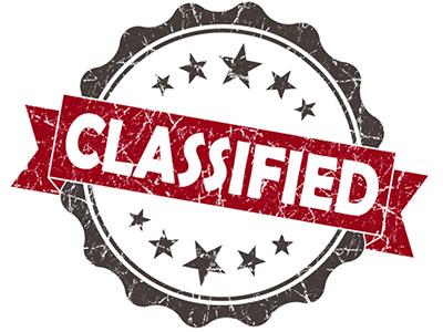 That's Classified...Or at Least It Should Be - A seal with classified written over it