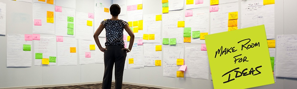 Make Room For Ideas- Women Looking Sticky Notes | Iron Mountain