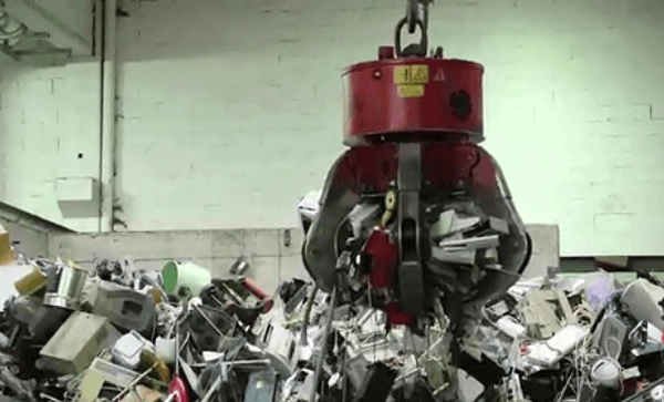 Behind the Scenes of an ITAD Specialist-Machine Picking Waste