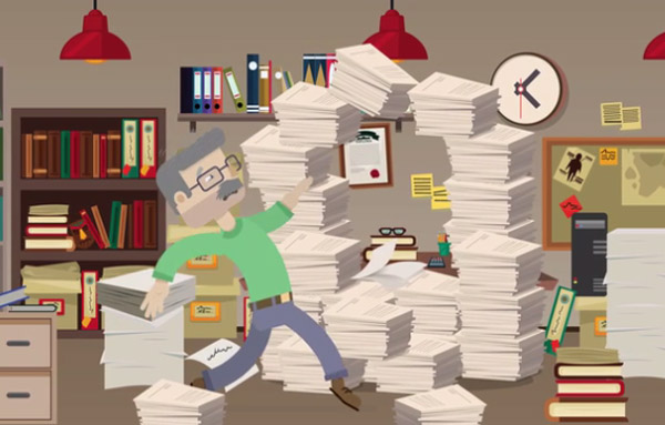 Dont Do it Yourself SMB Records Management - Man Running