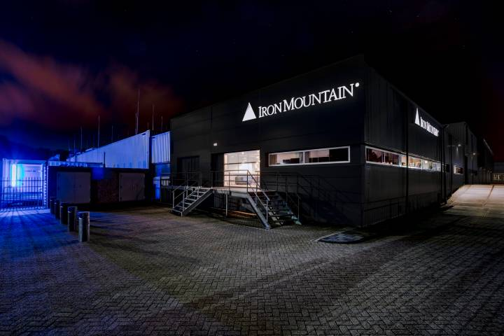 Amsterdam Data Center Exterior Night