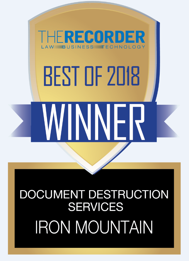 best of 2018 document destruction services award logo