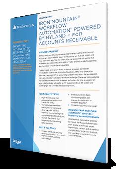 Iron Mountain® Workflow Automation™ von Hyland – für Debitorenbuchhaltung
