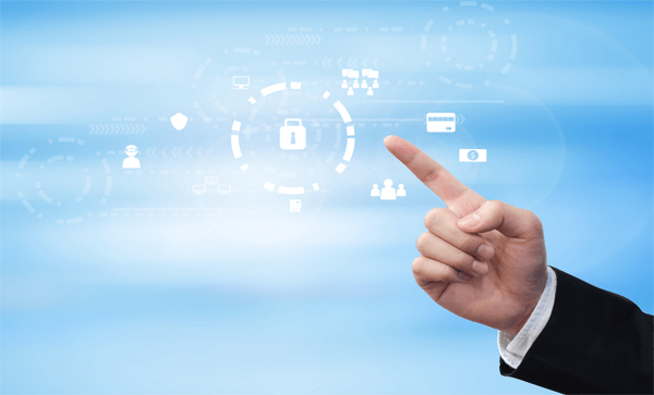 Why Data Security Best Practices Should Take Center Stage - Man Pointing Lock | Iron Mountain