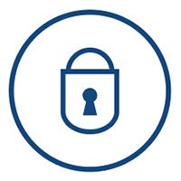 secure tape storage - lock icon