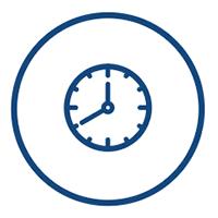 secure tape storage - clock icon