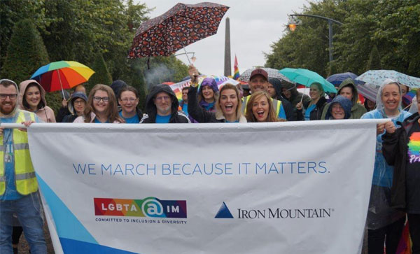 Iron Mountain Speaks Up:  oui à la diversité et à l'inclusion   - Glasgow Pride last year 2017 | Iron Mountain