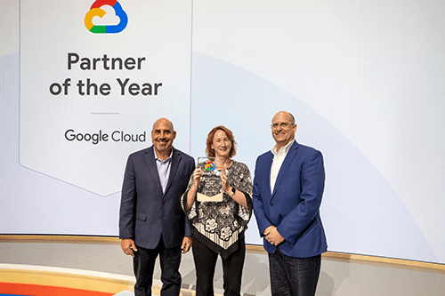 Fidelma Accepting Google Cloud Award