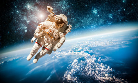 Information Management In The Global Mid-Market - An astronaut in space