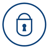 secure tape storage - lock icon