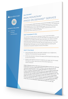 Image on Demand Solution Brief | Iron Mountain FR