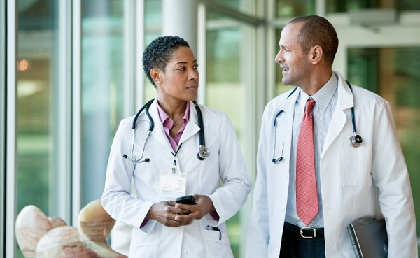 Healthcare Services- Two doctors in a conversation