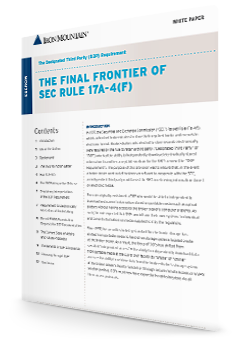 The Final Frontier of SEC Rule 17A4F