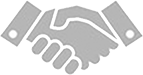 Iron Mountain Shaking hands Icon