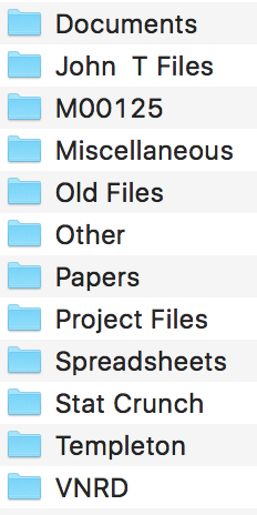 Poor Folder naming